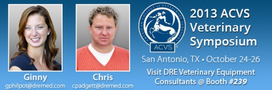 Visit DRE at the 2013 ACVS Symposium