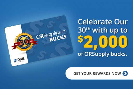 Celebrate our 30th with up to $2,000 of OR Supply bucks!