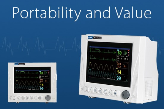 Get portability and value from your vital signs monitor.