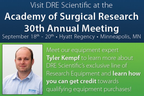 Visit Tyler at the DRE Scientific booth at ASR 2014 for more information DRE Scientific, and enter to win a $250 DRE certificate