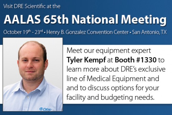 Meet Tyler at booth #1330 to learn more about DRE's exclusive line of Medical Equipment.