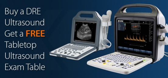 Buy a DRE Ultrasound and get a FREE Tabletop Ultrasound Exam Table!